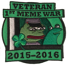 Pepe Veteran of First Meme War Patch, Pepe frog Kekistan Shadilay 4chan Kek
