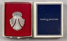 Vintage Retired Reed & Barton Sterling Silver Bookmark Book Mark Fleur de Lis