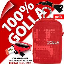 NUOVO Golla universale fotocamera digitale compatta borsa custodia rosso per