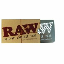 Raw ThreeWay Shredder Metal Card Grinder with holes in which you can rub tobacco