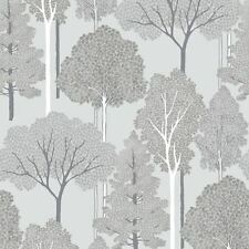 ELLWOOD TREES WALLPAPER - ARTHOUSE 670002 - SILVER GLITTER TREES