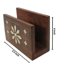 New Wooden Designer Table Decor Napkin Tissue Paper Holder Stand Gift Item
