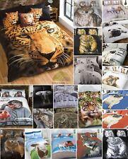 Pug Animal Print Quilt Duvet Cover With Pillowcases Case Bedding Set White King