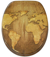 WC SITZ TOILETTENDECKEL KLODECKEL KLOBRILLE BRILLE MIT ABSENKAUTOMATIK WORLD MAP