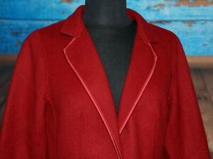 Talbots Sz 8 Petite Blazer Wool Bd Jacket Deep Burgundy Red 1 Button Trim Career