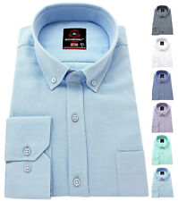 RICHBERRY Men's Oxford Shirts Button Down collar Formal Casual Long sleeve