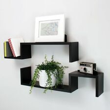 Set of 3 High Quality Grey Floating Cube Shelves MDF