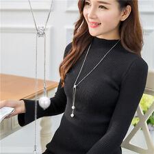 Nueva Moda Mujer Joyas Cadena Gargantilla Colgante de Cristal declaración Collar Largo