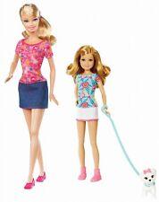 Barbie Sisters Pup Walk Barbie Stacie dolls 2 pack W3285 2011  NEW