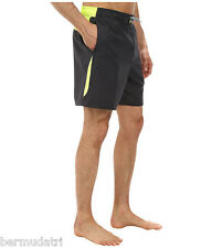 """NWT NIKE  7"""" Core Envince Volley Swim Trunks Sz SMALL Anthracite & Neon Trim"""