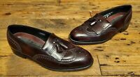 Florsheim Burgundy Leather Wingtip Tassel Slip on Dress Shoes Men's Size 9.5