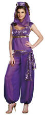 Womens Purple Genie Jasmine Aladdin Disney Fancy Dress Costume Size 16 - 18
