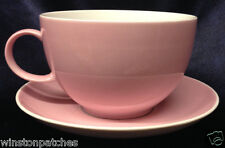 THOMAS ROSENTHAL SUNNY DAY ROSE PINK JUMBO CUP & SAUCER 28 OZ GERMANY