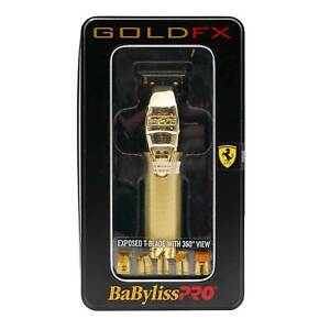 OPEN BOX BaBylissPro FX787G Barberology MetalFX Series Outlining Trimmer in Gold