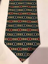 """RARE Vintage Paolo Gucci Chain  Silk Tie 57"""" Made In Italy"""