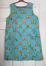 Lilly Pulitzer Girls Birds Of Paradise Parrot Print Shift Dress 14