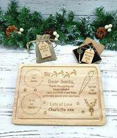 Personalised Santa Treat Plate Tray Board Christmas Eve Father Christmas Wooden