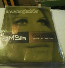 VINTAGE OMSA 20 DENIER SEAMLESS STOCKINGS 1960s TAN SIZE 9 1/2 NEW IN PACKET