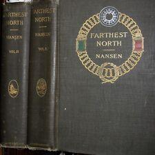 1897 FARTHEST NORTH Fridtjof Nansen NORTH POLE EXPEDITION GREENLAND MAPS PLATES