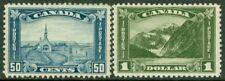 EDW1949SELL : CANADA 1930-31 Scott #176-77 High values Mint OG. Fresh. Cat $350.