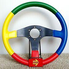 MOMO Benetton Harlequin F1 formula1 leather steering wheel 35cm VERY RARE 1990