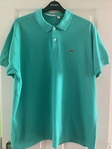 Lacoste Mens Polo Shirt Jade Green Size 8 (3XL)