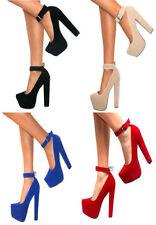 Block Heel Suede Prom Sandals & Flip Flops for Women