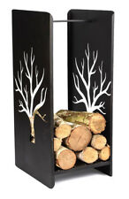 étagère en bois de cheminée métal 1470 Support 109cm panier à pour