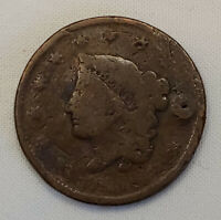 1835? US Coronet LIBERTY Head Large Penny One Cent Coin Circulated US Currency