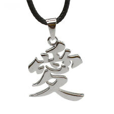 Hot Anime NARUTO Gaara LOVE Alloy Pendant Necklace Cosplay Jewelry Gift