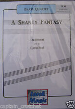 A SHANTY FANTASY (Selection) - Brass Quartet Sheet Music Score and Parts NEW