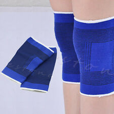 2pcs Blue Elastic Knee Support Pad Brace Guard Sleeve Strap Bandage Wrap Gym