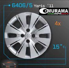 4x Original MURAMA 6406/5 Radkappen für 15 Zoll Felgen TOYOTA YARIS '11 GRAU NEU