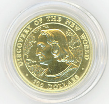 Bahamas $100 1990 COLUMBUS, DISCOVERY OF NEW WORLD Gem Uncirculated, Mtg.=500