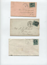 3 cent banknote covers group of 8 eastern states 1870s-1880s [y3345]