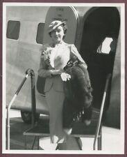 FAY WRAY Smart Business Suit Vintage 1940 Original Phto TWA Lindbergh J661