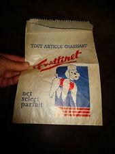 Ancien Sac Papier au Chien Caniche de Trottinet Vetement Chaussure Lingerie