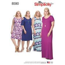 Simplicity Sewing Pattern Women's Knit Dress Sleeve Variations 1xl - 5xl 8590