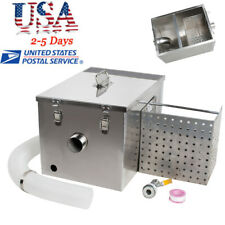 Grease Trap Interceptor Set For Kitchen Wastewater Removable Baffles Silver Fda