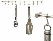 OPTIMAL 54cm 8 Hook Stainless Steel Hanging Utensil Rack - Silver