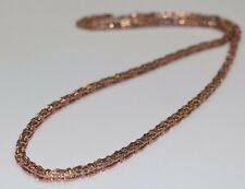 Silver Cage Chain ALL ROSE GOLD PLATED with CZ Stones