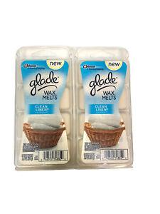 GLADE Clean Linen Wax Melts Refills 3.1 oz 8 Ct 2 Pack