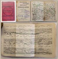 Meyers Reisebücher Dresden & Sächsische Schweiz 1905 Karten & Pläne xy