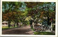 Riverside Avenue Jacksonville Florida 1923 Vintage Postcard AA-003