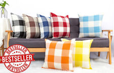 Home Decor Square Throw Pillow Covers Set Of 2 Cushion Case Buffalo Check Plaid
