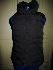 Ladies black gilet.M.Monsoon.Padded.Zip&poppers.2pckts.Lined.Excellent condition