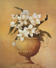 "40W""x48H"" STATELY GRANDEUR 1 by HAMPTON HALL -VASE STILL LIFE POT FLOWERS CANVAS"