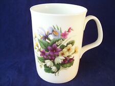Vintage Springfield Floral Tall Coffee Mug England Fine Bone China Wildflower