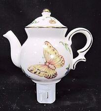 Butterfly Tea Pot Porcelain Nightlight Home  Decor Collectibles