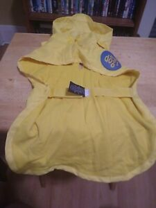 male female PUPPY DOG bright yellow RAIN COAT JACKET IN PACKET size S OLD NAVY